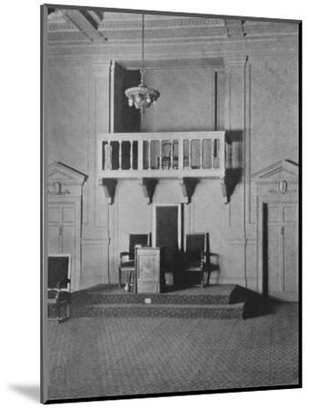 Italian Renaissance detail in the Lodge Room of the Masonic Temple, Birmingham, Alabama, 1924-Unknown-Mounted Photographic Print