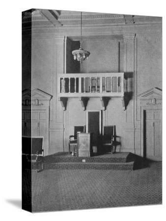 Italian Renaissance detail in the Lodge Room of the Masonic Temple, Birmingham, Alabama, 1924-Unknown-Stretched Canvas Print