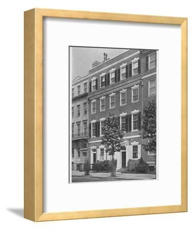 Entrance front, house of Miss Anne Morgan, Sutton Place, New York City, 1924-Unknown-Framed Photographic Print