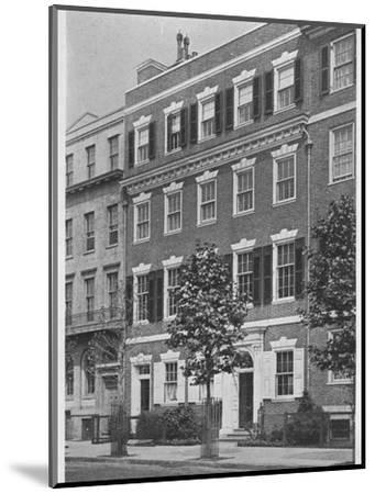 Entrance front, house of Miss Anne Morgan, Sutton Place, New York City, 1924-Unknown-Mounted Photographic Print