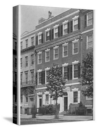 Entrance front, house of Miss Anne Morgan, Sutton Place, New York City, 1924-Unknown-Stretched Canvas Print