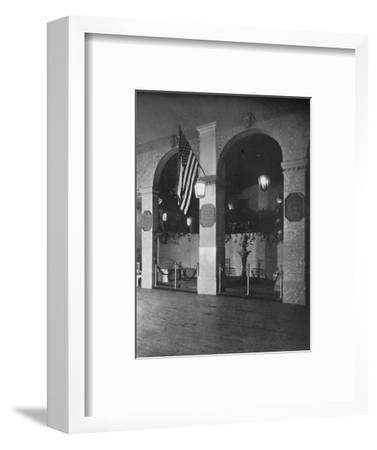 Temporary arches combined with permanent piers, 1924-Unknown-Framed Photographic Print