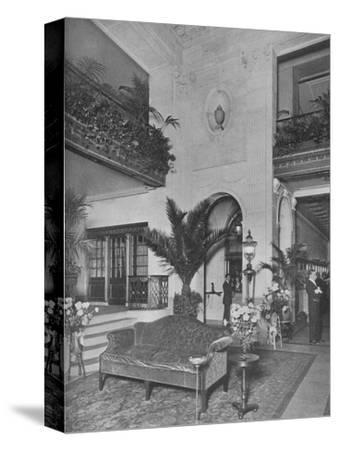 Corner of the main lobby, looking towards the office, Roosevelt Hotel, New York City, 1924-Unknown-Stretched Canvas Print