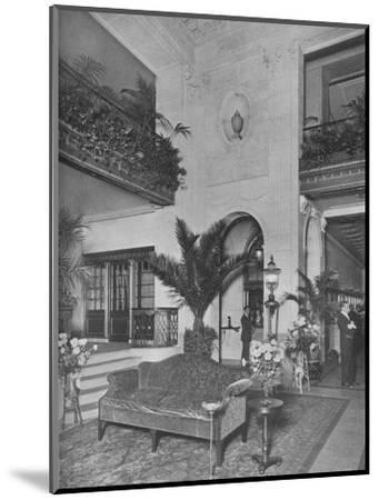 Corner of the main lobby, looking towards the office, Roosevelt Hotel, New York City, 1924-Unknown-Mounted Photographic Print