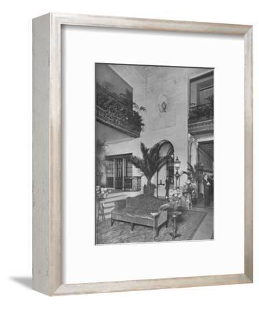 Corner of the main lobby, looking towards the office, Roosevelt Hotel, New York City, 1924-Unknown-Framed Photographic Print