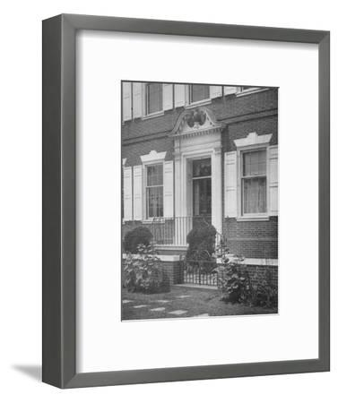 Garden entrance to the house of Miss Anne Morgan, New York City, 1924-Unknown-Framed Photographic Print