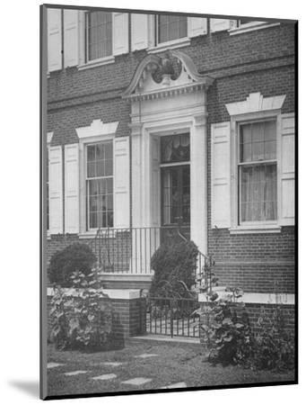 Garden entrance to the house of Miss Anne Morgan, New York City, 1924-Unknown-Mounted Photographic Print