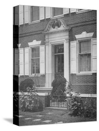 Garden entrance to the house of Miss Anne Morgan, New York City, 1924-Unknown-Stretched Canvas Print