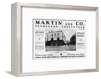 'Martin and Co., Promenade, Cheltenham', 1909-Unknown-Framed Photographic Print