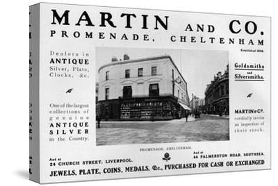 'Martin and Co., Promenade, Cheltenham', 1909-Unknown-Stretched Canvas Print
