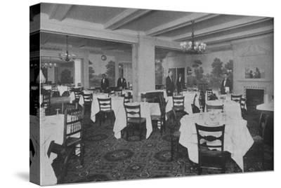 Breakfast Room, Roosevelt Hotel, New York City, 1924-Unknown-Stretched Canvas Print
