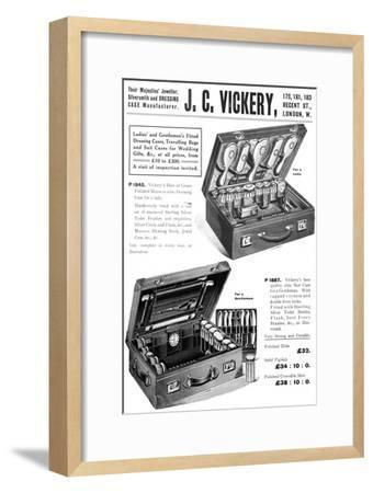 'Their Majesties' Jeweller, Silversmith and Dressing Case Manufacturer. - J. C. Vickery', 1909-Unknown-Framed Giclee Print