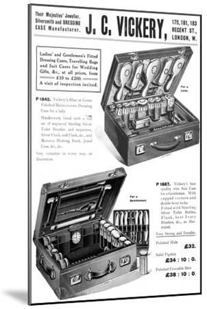 'Their Majesties' Jeweller, Silversmith and Dressing Case Manufacturer. - J. C. Vickery', 1909-Unknown-Mounted Giclee Print