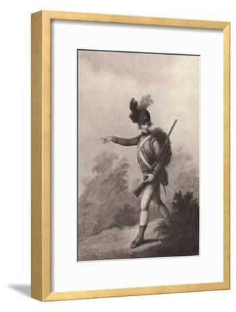 'Light Infantry Man (1791)', 1791 (1909)-Francois David Soiron-Framed Giclee Print