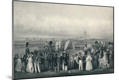 'Presenting New Colours to the 93rd Highlanders, Oct. 7th, 1834', 1834 (1909)-Unknown-Mounted Giclee Print