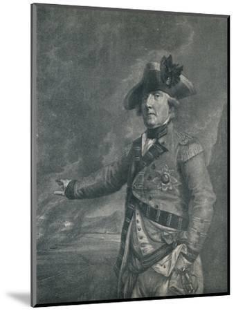 'George Augustus Elliot (Lord Heathfield), Governor of Gibraltar', 1788 (1909)-Francesco Bartolozzi-Mounted Giclee Print