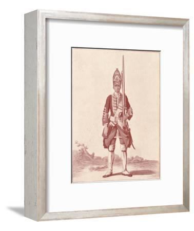 'Gentleman, the 7th (Royal Fusiliers) 1742', 1742 (1909)-Unknown-Framed Giclee Print