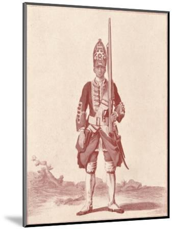 'Gentleman, the 7th (Royal Fusiliers) 1742', 1742 (1909)-Unknown-Mounted Giclee Print