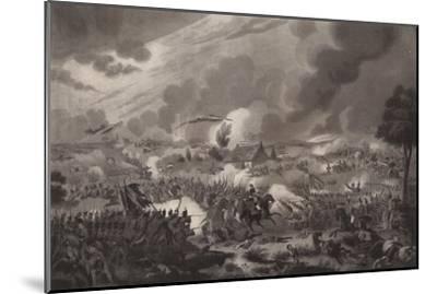 'The Battle of Waterloo, June 18, 1815', 1817 (1909)-Richard Gibson Reeve-Mounted Giclee Print
