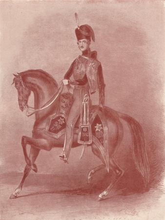 'His Royal Highness Prince Albert, Colonel of the 11th Hussars', 19th century, (1909)-Unknown-Framed Giclee Print