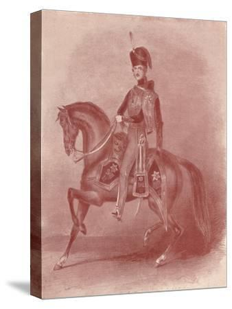 'His Royal Highness Prince Albert, Colonel of the 11th Hussars', 19th century, (1909)-Unknown-Stretched Canvas Print