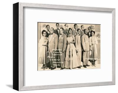 'Orquesta: Neno Gonzalez Cortesia - Radio Cadena Habana', c1910-Unknown-Framed Photographic Print