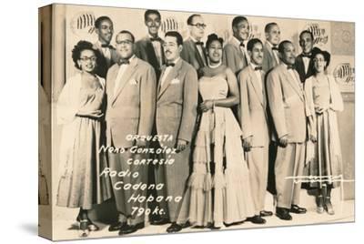 'Orquesta: Neno Gonzalez Cortesia - Radio Cadena Habana', c1910-Unknown-Stretched Canvas Print