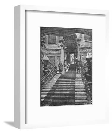 'Grand Staircase, Buckingham Palace', 1890-Unknown-Framed Giclee Print