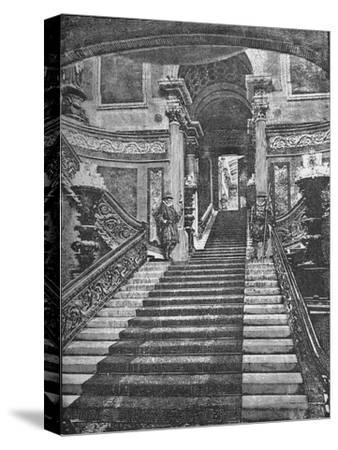 'Grand Staircase, Buckingham Palace', 1890-Unknown-Stretched Canvas Print