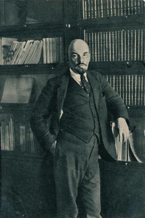 'Vladimir Ilich Lenin, Russian Bolshevik leader, in the Kremlin, Moscow, Russia, October', 1918-Unknown-Framed Giclee Print