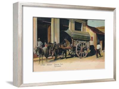 'Habana - Spanish Cart. Carromato', c1907-Unknown-Framed Giclee Print