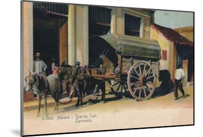 'Habana - Spanish Cart. Carromato', c1907-Unknown-Mounted Giclee Print