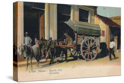 'Habana - Spanish Cart. Carromato', c1907-Unknown-Stretched Canvas Print