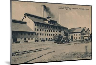 'Central Vertientes Sugar Mill, Camaguey, Cuba', c1910-Unknown-Mounted Photographic Print