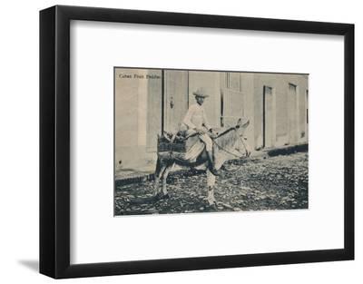 'Cuban Fruit Peddler', c1908-Unknown-Framed Photographic Print