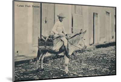 'Cuban Fruit Peddler', c1908-Unknown-Mounted Photographic Print