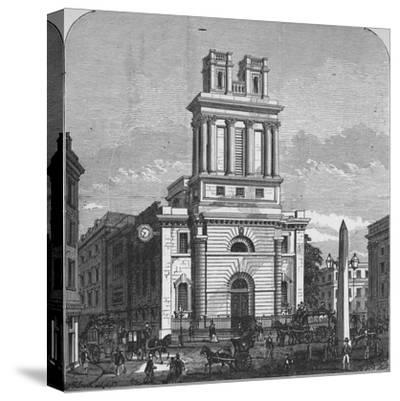 'St. Mary Woolnoth', 1890-Unknown-Stretched Canvas Print