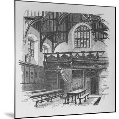 'Gray's Inn Hall', 1890-Unknown-Mounted Giclee Print