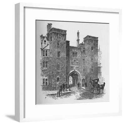 'Old Gateway, Lincoln's Inn', 1890-Unknown-Framed Giclee Print