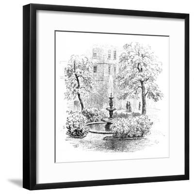 'The Fountain, Middle Temple', 1890-Unknown-Framed Giclee Print