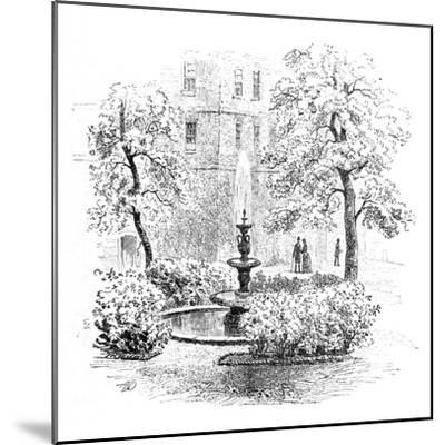 'The Fountain, Middle Temple', 1890-Unknown-Mounted Giclee Print