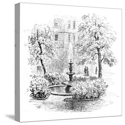 'The Fountain, Middle Temple', 1890-Unknown-Stretched Canvas Print