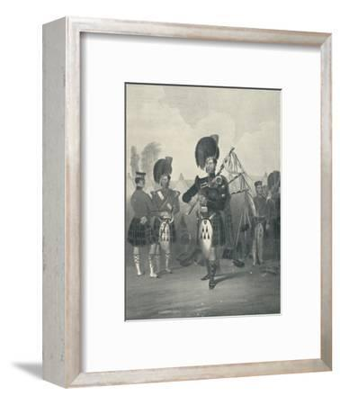 'Piper, 42nd Royal Highlanders', c19th century, (1909)-Unknown-Framed Giclee Print