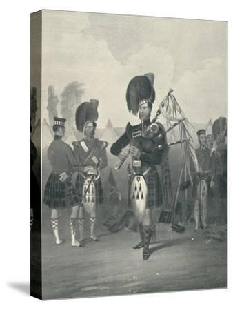 'Piper, 42nd Royal Highlanders', c19th century, (1909)-Unknown-Stretched Canvas Print