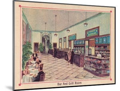 'Bar and Grill Room - Hotel Florida - Havana - Cuba', c1910-Unknown-Mounted Giclee Print