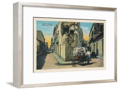 'Street Vendor, Havana, Cuba', 1938-Unknown-Framed Giclee Print