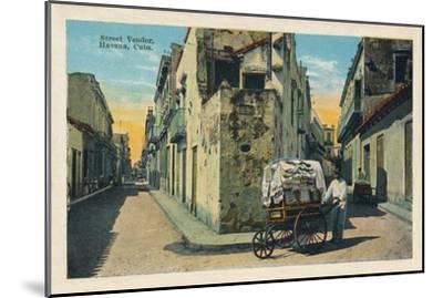 'Street Vendor, Havana, Cuba', 1938-Unknown-Mounted Giclee Print