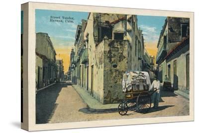 'Street Vendor, Havana, Cuba', 1938-Unknown-Stretched Canvas Print