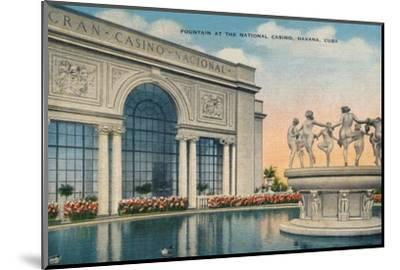 'Fountain at the National Casino, Havana, Cuba', c1910-Unknown-Mounted Photographic Print