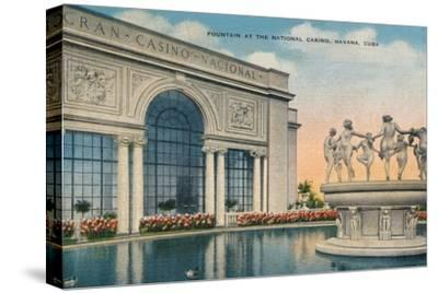 'Fountain at the National Casino, Havana, Cuba', c1910-Unknown-Stretched Canvas Print